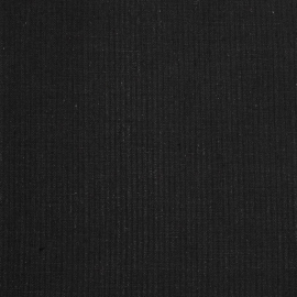 Linen Fabric Sample Stripe Black