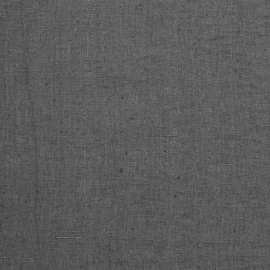 Heavy Linen Fabric Graphite Terra Washed