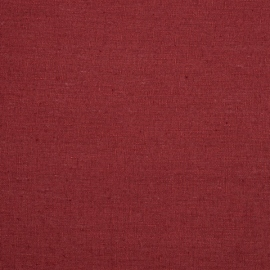Heavy Linen Fabric Sample Burgundy Terra Washed