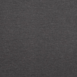 Charcoal Linen Fabric Stone Washed
