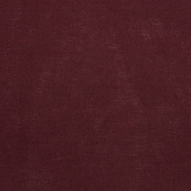 Linen Cotton Fabric Burgundy Paula