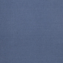 Linen Cotton Fabric Sample Blue Paula