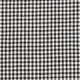 Linen Cotton Fabric Black White