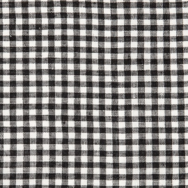 Linen Fabric Sample Gingham Black White