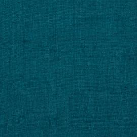 Linen Fabric Rustic Marine Blue