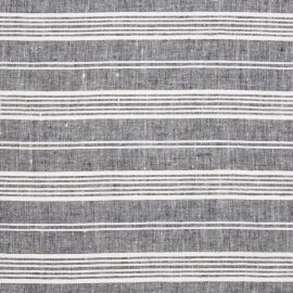 Linen Fabric Multistripe Navy White