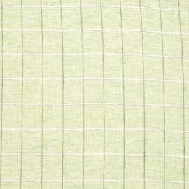 Linen Fabric Check Green
