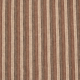 Linen Fabric Sample Stripe Brown