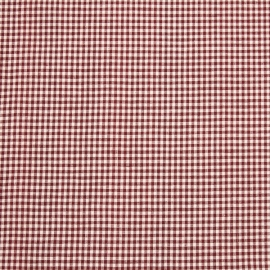 Linen Fabric Check Red White