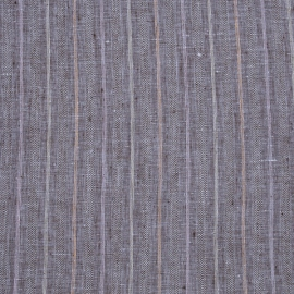Linen Fabric Sample Stripe Blue