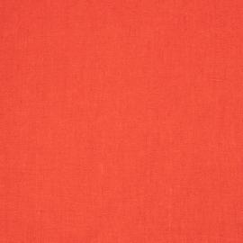 Linen Fabric Plain Red