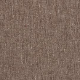 Linen Fabric Melange Brown Prewashed
