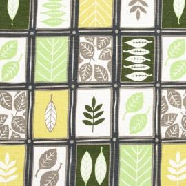 Linen Fabric Print Green