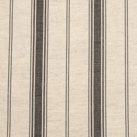 Linen Fabric Multistripe Natural Black