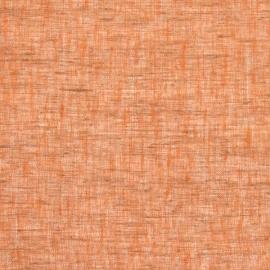 Linen Sheer Fabric Orange Twist Open