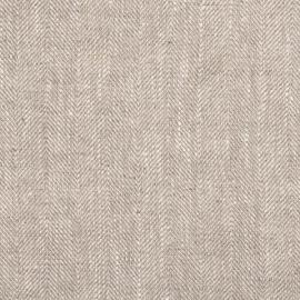 Chevron Linen Fabric  Natural Prewashed