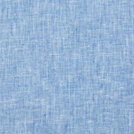 Linen Fabric Crushed Melange Blue
