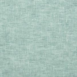 Linen Fabric Crushed Melange Mint Prewashed