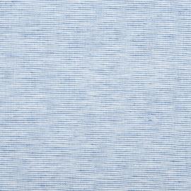 Blue Linen Fabric Pinstripe