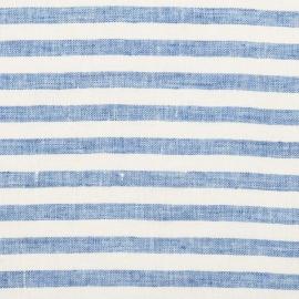 Blue Linen Fabric Ticking Stripe