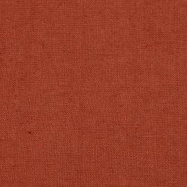Linen Fabric Terra Brick